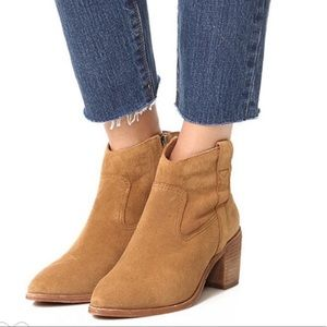 Madewell Lonnie Booties in Truffle